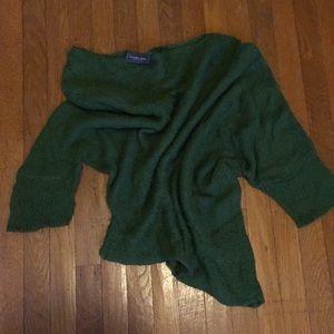 Soft draped asymmetrical sweater